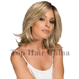 Горячая продажа классическая доставка в 24 часов мода короткие волны блондинка синтетический парик Ladys ' парик волос ежедневно Natrura парики от