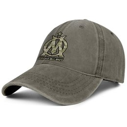 animal customs women Coupons - Olympique de Marseille Les Olympiens OM Camouflage brown Men and women Denim hats wash Adjustable trucker hats custom fitted cute Rugged D
