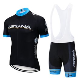 Equipo de ciclismo del equipo astana online-Nuevo 2019 Negro ASTANA Team pro ciclismo jersey 9D gel Pad shorts set hombres Ropa Ciclismo ciclismo Maillot Culotte ropa