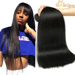 Malaysian human hair online-8A Visón Brasileño Cabello Liso Paquetes Color 1B 2 4 Brasileño de la Virgen Virginal Recto Peruano Indio de Malasia Tejido Humano Extensiones