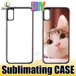 Telefono bianco online-Custodia rigida in plastica rigida per sublimazione 2D in plastica per PC di design sublimatico per iPhone XS MAX XR X Samsung S10E S10 Plus