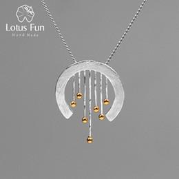 Lotus Fun Echt 925 Sterling Silber Kreative Handgemachte Edlen Schmuck Oriental Element Vintage Vorhang Anhänger Ohne Halskette Y19061003 von Fabrikanten