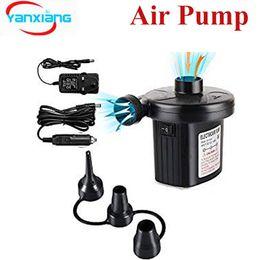 10шт электрический воздушный насос двусторонний воздушный насос с 3 насадками, 220 В переменного тока / 12 В постоянного тока 2 в 1 портативный воздушный насос YANX-насос от