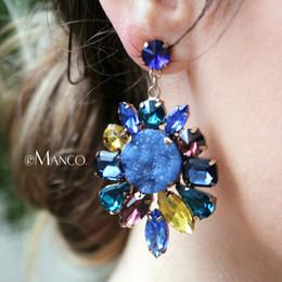 bijoux emanco Promotion Boucle d'oreille de luxe à la mode pour femmes eManco 3color Stud jaune orange classique boucle d'oreille pour nouveaux accessoires de bijoux de mode