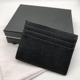 Classificação do cartão on-line-Novos homens de couro de luxo titular do cartão de crédito conjuntos de cartão de moda bolso fino carteira 6 slot para cartão de saco de pó de alta qualidade caixa de embalagem