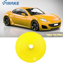Adesivi ruota giallo online-8M Car Wheel Mozzo Bordo Bordo Protector Anello gomma Guardia gomma adesivi su auto giallo Car Styling