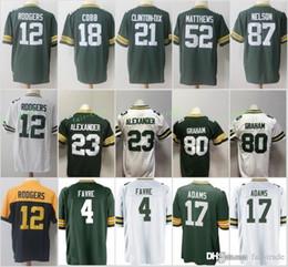 Green Bays Packers Jersey 80 Jimmy Graham 12 Aaron Rodgers 23 Jaire  Alexander 37 Jackson 4 Favre 17 Davante Adams 52 Matthews Clinton-Dix 25c1d93f0