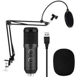 Filtros de pc on-line-BM 900 Condensador USB Microfone Estúdio com Tripé Tripé e Pop Filtro Mic para Computador Karaoke PC Atualizado a partir de BM 800