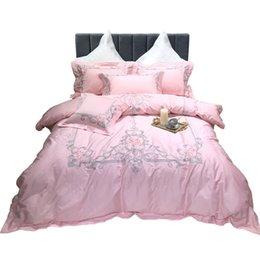 conjuntos de cama ocidentais Desconto Estilo novo estilo europeu estilo ocidental 80 long-staple algodão Royal 4-piece bedding set bordado atmosférico cama