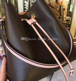 saco de vagão caqui Desconto NEONOE sacos de ombro Noé bolsa de balde de couro das mulheres designer de Moda bolsas de impressão flor bolsa cruzada TWIST Hobo transporte da gota