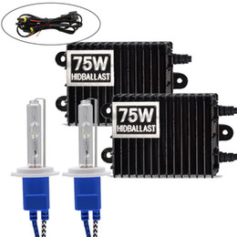 Xenon light kits cars on-line-H1 H3 H4 H11 9006 75 W 4300 K 6000 K 8000 K Lastro HID Kit Xenon 12 V Farol Do Carro Da Luz 9005 9006