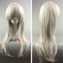 2019 parrucche di alta qualità Anonimo Anna high end rosa parrucca anime net argento 65CM lunghi capelli lisci Offerta speciale A2022 sconti parrucche di alta qualità