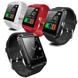Smartwatch Bluetooth Smart Watch U8 WristWatch Спортивные часы с шагомером Сообщение Синхронизация SMS Напоминание о вызове Удаленная камера cheap watch remotes от Поставщики смотреть пульты