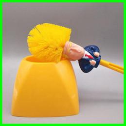 porta-toalhas Desconto Engraçado trunfo escova de vaso sanitário com suporte criativo donald trump durável escovas de limpeza do banheiro home room ferramentas de limpeza platic