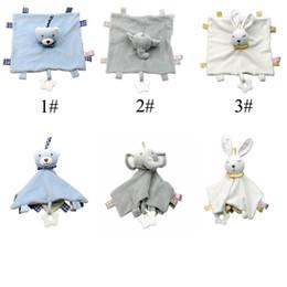 Canada Peluche bébé apaiser serviette bébé couverture jouet doux en peluche nourrisson apaiser serviette confort enfant sucette éléphant lapin ours poupée C52 cheap baby towel toys Offre