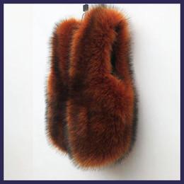 abrigo de visón plateado Rebajas Más nueva manera de piel falsa chaleco de color caramelo Escudo de piel falsa chaleco grueso caliente tamaño Colete Femenino Plus S-3XL wq815