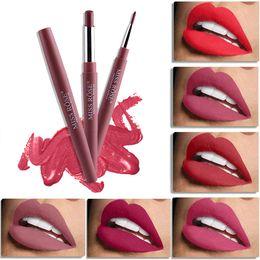 2019 color de labios rosa Miss Rose Lip Liner Lápiz labial mate 12 colores Lápices labiales hidratantes impermeables Labios de larga duración Maquillaje Llipliner color de labios rosa baratos
