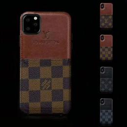 cubierta huawei honor 4c Rebajas PU de cuero de lujo de la caja del teléfono para el iPhone X XS Max XR iPhone Pro Max 11 Cubierta 7 8 7plus 8 Plus tarjeta de crédito Con Soft caso para