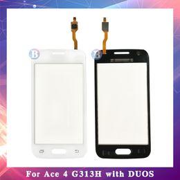 samsung ace pantalla táctil Rebajas 10 piezas para Samsung Galaxy DUOS Ace 4 G313 G313F G313H o G316 G316H G316F Pantalla táctil Sensor digitalizador Panel de lente de vidrio exterior