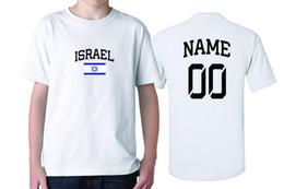 2019 bandiere israeliane Israel Youth Boys Maglietta Flag Maglietta Country Pride AGGIUNGI Il tuo nome / numero bandiere israeliane economici