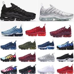 2020 zapatillas deportivas de estilo de vida NIKE AIR VAPORMAX PLUS TN Zapatillas de running para hombre Negro Rojo Verde Zapatillas de deporte de mujer Zapatillas de deporte Zapatillas de tenis de estilo de vida informal zapatillas deportivas de estilo de vida baratos