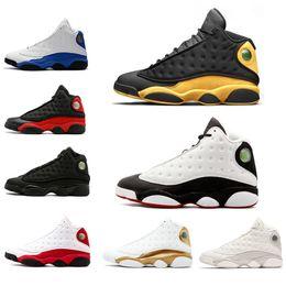 aulas de moda Desconto Top Fashion 13 13s Mens sapatos de basquete Classe de 2002 Bred Black Cat Ele tem jogo Chicago Hyper Royal DMP Flint Sneakers 41-47