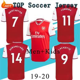 Niños de fútbol tops altos online-TOP 19/20 nuevo kit adulto de alta calidad ArsenalING Soccer Jersey camiseta de fútbol Unifor Kids