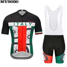 Radsport-trikots designs online-Italy Design Cycling Short Sleeves-Trikot mit Trägerhose für atmungsaktive Outdoor-Mountainbike-Trikots