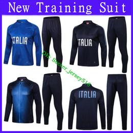 9a8379d50  )2018 2019 Italy Tracksuit Jacket Pants Training Suit PIRLO BUFFON DE  ROSSI BELOTTI Soccer Jersey Kit Italy Football Jacket Tracksuit Set