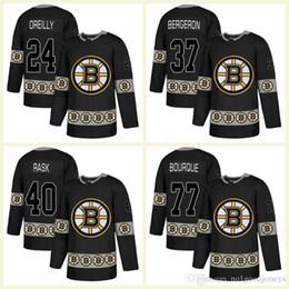 Fashion Ice Hockey Jerseys Stitched 37 Patrice Bergeron 63 Brad Marchand 77  Ray Bourque 17 Milan Lucic 4 Bobby Orr 33 Zdeno Chara 99a8bc310