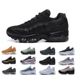 nike air max 95 airmax Air Men Running Shoes Pull Tab Negro Marrón Blanco Pizarra Azul La mejor calidad Clásico TN Sport Zapatillas de deporte Zapatos