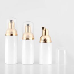 Argentina 30 ps / lote Vacío 60 ml Limpiador facial cosmético Lavar Crema Plástico Mascota Blanco Jabón líquido botella de espuma con bomba de espuma Suministro