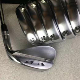 2019 golf keile 2019 Golfclubs S8 Golf Wedges Silver Black Copper Red 50 52 54 56 58 60 Grad für Rechtshänder mit Stahlwelle freies Verschiffen rabatt golf keile