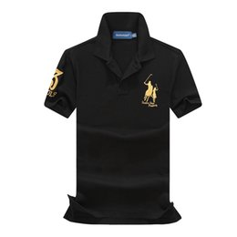 tee-shirt jaune à manches longues Promotion Polo Hommes Designer T-shirt Noir Jaune Vert Chemise Designer ralph brand lauren Hommes Femmes T-shirt Classique tee de mode manches courtes S-XXL