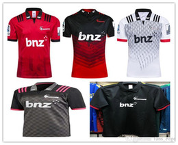 e84bf36964999 2019 maillot de rugby rouge noir 2019 Crusaders Rugby Jersey Rouge Blanc Noir  Maillot de Rugby