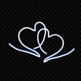 enseignes au néon de bière de lune bleue Promotion Heart To Heart Se connecter Night Bar Discothèque Résidentiel Public Places Hôtel Romantique Décoration 12 V Super Bright