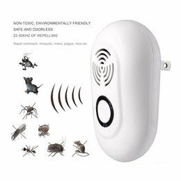 Tueurs de cafards en Ligne-Ultrasonic Pest Reject Electric Moustique Repeller Indoor Cockroach Piège Moustique Tueur Lutte Contre Les Ravageurs 100V-240V CCA11754 10pcs