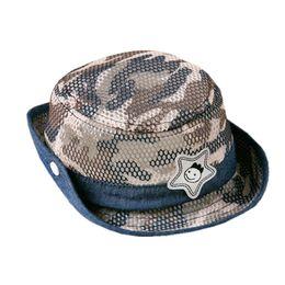 Protetores de sol para crianças on-line-Viseira de camuflagem do bebê verão crianças chapéu de sol meninos e meninas protetor solar chapéu de pescador