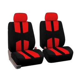Asiento de coche cubre azul online-4Pcs Universal Car Seat Cover Set completo para All Seasons Auto Interior Accessories car-styling Rojo Azul Beige Gris 4 colores