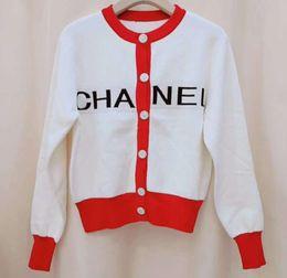 Sprengkragen online-Frühen Winter neue Mode koreanische Version beliebte explosive Buchstaben Muster gestrickt runder Kragen Pullover unten gestrickte Jacke