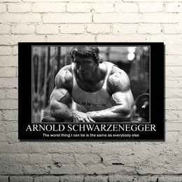 Arnold Schwarzenegger Bodybuilding Motivational Quote Silk Poster Print 13x20 24x36inches Gym Room Fitness Sports Picture 029