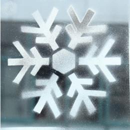 2020 decoração de neve e spray Prático Design Ano Novo Feliz Natal spray Teste padrão do indicador do floco de neve enfeites Template Decoração neve desconto decoração de neve e spray