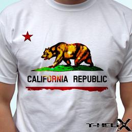 2019 camisas baratas do branco das crianças t Bandeira da república de Califórnia - parte superior branca da camisa de t - homens das mulheres dos miúdos tamanhos do bebê o verão o T do pescoço, frete grátis tee barato, 2019 tees quentes camisas baratas do branco das crianças t barato
