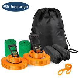 65ft Extra Längerer Arm Trainer Linie Krieger Trainingsausrüstung Slackline Kit für Kinder Camping und Wandern Klettern von Fabrikanten
