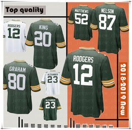 a91118550 China Green Men Bays 12 Aaron Rodgers Jersey Packer 80 Jimmy Graham 52 Clay  Matthews 20