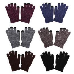 0a805e9b1e12d Cashmere Fingerless Gloves Men Australia - Winter Autumn Men Knitted Gloves  Touch Screen Male Thicken Warm