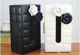 2019 tovaglioli di carta dell'annata all'ingrosso Stile di moda Trapano luminoso il famoso logo texture pelle di scatola di asciugamani di carta 2019 regali di Natale VIP marchio di moda logo tessuto regalo VIP