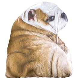 Kids bedsheet on-line-80 * 115 cm 3D Dos Desenhos Animados Francês Buldogue Lance Cobertores de Ar Condicionado Lençol Sofá Capa de Verão Animal simulação Quilts para crianças