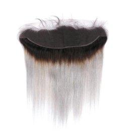 цвет волос для азиат Скидка LEDON 13x4 Lace Frontal, Натуральный Прямой, ST, Цвет 1B / Серый 1B / Серебро, Плотность 130%, 100% Non-Remy Наращивание волос, 1 шт.