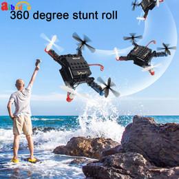 micro bloques de construcción Rebajas Mini Micro Rc Building Block Ladrillos 3d L222 Rc Quadcopter Drone aviones Uav con tirones sin cabeza Modo Diy para el regalo del principiante